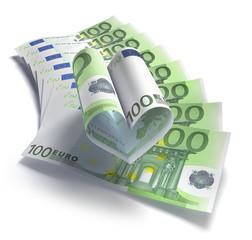 100 Eurofächer mit Herz