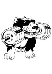 strong pit bull terrier