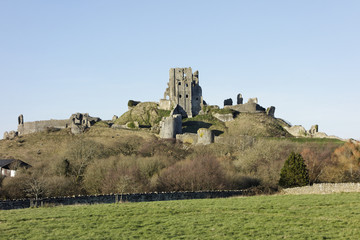View of Corfe Castle from Corfe Village