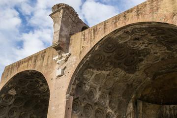 Basilica di Massenzio, volte della navata nord - Roma