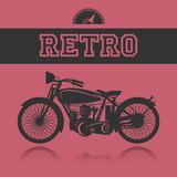 Fototapety Vintage Motorcycle label