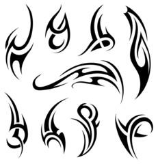 Maori tattoo set