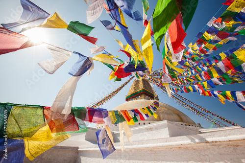 Wisdom eyes, Bodhnath, Nepal - 72564645