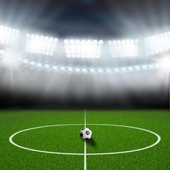 soccer field center and ball