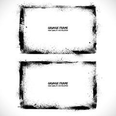 Grunge textured vector frames