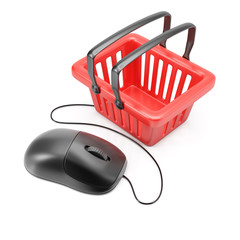 Computer mouse with shopping basket