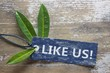 Like us! - on natural label