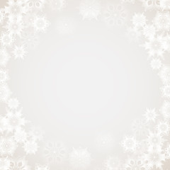 Christmas and New Year abstract background with snowflakes