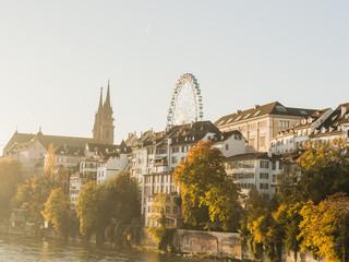 Basel, Stadt, Rheinufer, historische Altstadt, Herbst, Schweiz