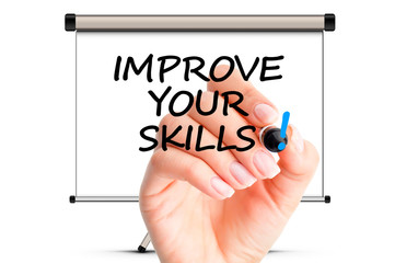 Improve your skills concept