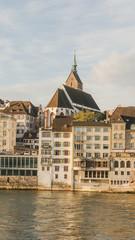 Basel, Altstadt, Martinskirche, Rheinsprung, Herbst, Schweiz