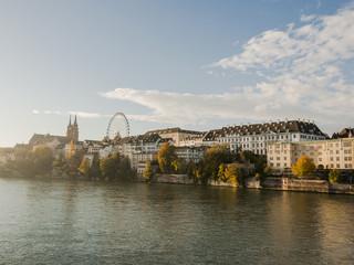 Basel, Altstadt, Rheinufer, Münster, Morgenstunde, Schweiz