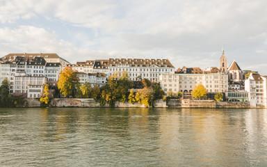 Basel, Altstadt, Rhein, Martinskirche, Herbst, Schweiz