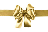 Fototapety golden bow photo made from silk