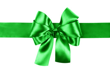 green bow photo made from silk
