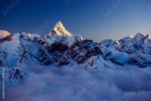 Beautiful landscape of Himalayas mountains