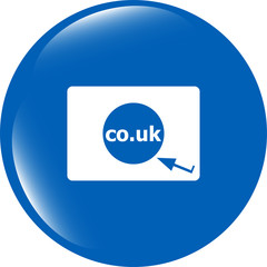 Domain CO.UK sign icon. UK internet subdomain symbol