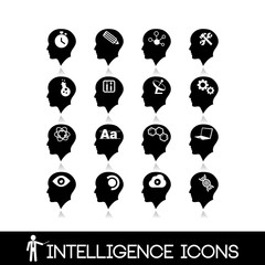 Head brain icons set8
