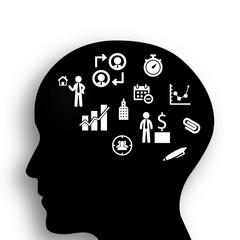 Brain of businessman concept