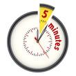 Интервал времени 5 минут (5 minutes). Часы с надписью