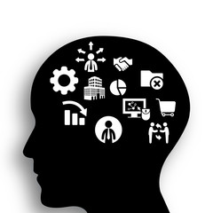 Brain of businessman concept8