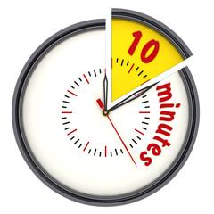 Интервал времени 10 минут (10 minutes). Часы с надписью