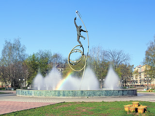 "Fountain ""Into Space"" in Yoshkar-Ola, Russia"
