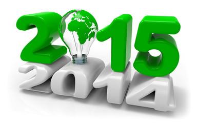 Energiewende 2014 2015 Glühbirne Erdball