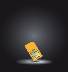 phone sim card raster blank