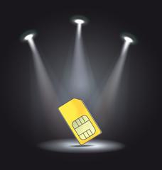 reflector light phone sim card vector