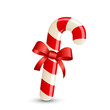 Christmas stripped candy cane - 72571609