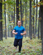 Man jogging in the forest