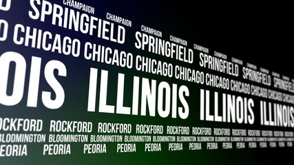 Illinois State and Major Cities Scrolling Banner