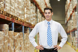 manager worker  in warehouse