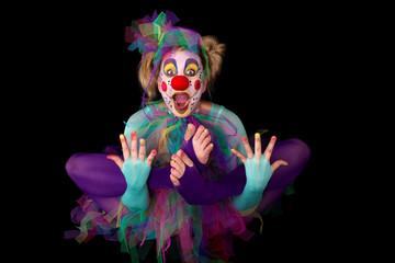 Schwebender Clown