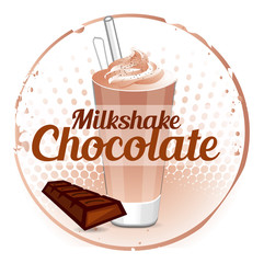 Milkshake Chocolate Stamp