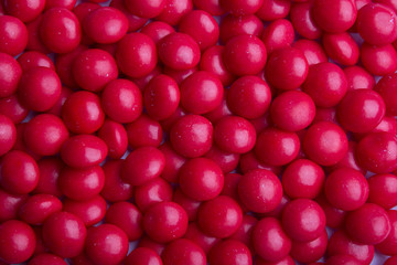 Background of coated red candy