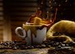 zolletta di zucchero dentro il caffe