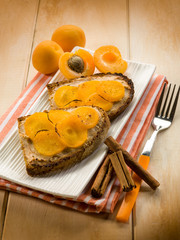 apricot dessert with cinnamon