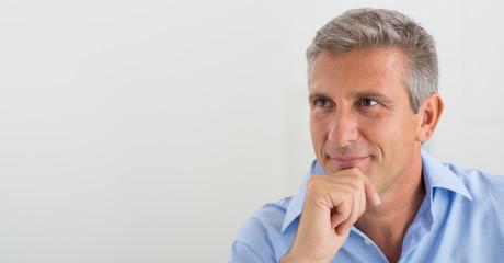 Confident Mature Man Thinking