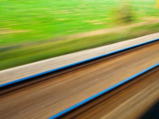 Blurred railroad