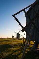 Windmühle im Abendlicht, Detail