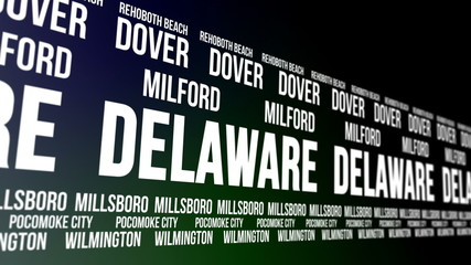 Delaware State and Major Cities Scrolling Banner