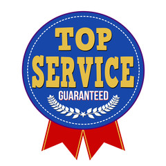 Top service guaranteed badge
