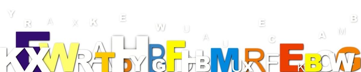 bandeau de lettres