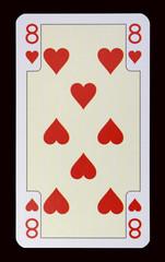 Spielkarten der Ladys - Herz Acht