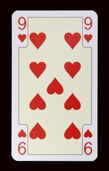 Spielkarten der Ladys - Herz Neun