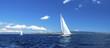 Panorama of sailing regatta. Luxury yachts.