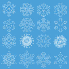 snowflakes in line style