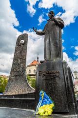 Taras Shevchenko Monument in Lviv, Ukraine